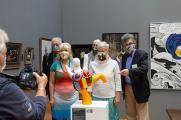 Presserundgang zur Duckomenta mit inter ducks Team und Direktorin Katja Lembke (c) Landesmuseum Hannover