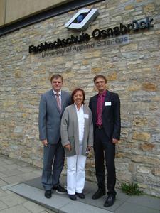 Innenminister Uwe Schünemann, Vizepräsidentin Marie Luise Rehn und Präsident Andreas Bertram