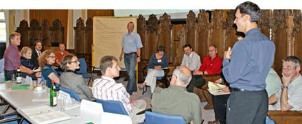 In sechs Arbeitsgruppen diskutierten die Teilnehmer(innen) am zweiten Veranstaltungstag Problemstellungen des Energiemanagements im Hochschulalltag