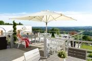 Terrasse mit Aussicht vom Thula Wellnesshotel Bayerischer Wald