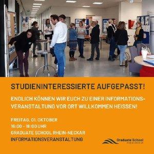 Live MBA-Informationsveranstaltung an der Graduate School Rhein-Neckar (c) GSRN
