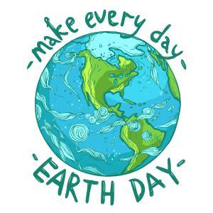 Jeder Tag sollte der Tag der Erde sein. Bild: Ecological Earth Day poster @ alexrockheart, depositphotos