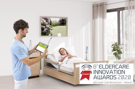 Bildunterschrift: SafeSense® 3 von wissner-bosserhoff wurde während der virtuellen Ausgabe der Messe Ageing Asia mit dem Eldercare-Innovation-Award ausgezeichnet
