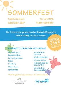 Flyer HS Osnabrueck Sommerfest