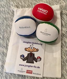Dieses Jonglierball-Set wird am 29.10. an Kursteilnehmer verschenkt