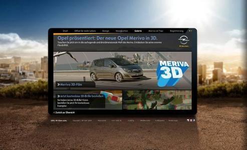 Der neue Opel Meriva im 3D-Format: Um die Vorteile der gegenläufig öffnenden FlexDoors plastisch zu verdeutlichen, wurde die Idee geboren, einen Werbefilm in 3DRaumeffekt, zu produzieren. Auch auf www.opel.de ist der Spot zu sehen