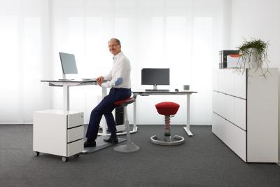 """Im Zentrum des Konzepts """"active office"""" steht ein Bewegungsraum. (Foto: AGR/aeris)"""