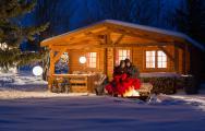 Camping in Bayern Winter
