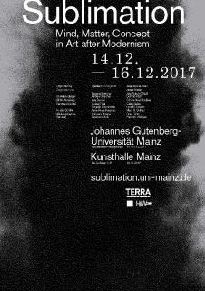 """""""Sublimation – Mind, Matter, Concept in Art after Modernism"""":"""