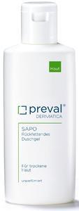 Preval Sapo enthält wertvolles Jojobaöl, das für eine ausreichende Rückfettung der Haut gleich beim Duschen sorgt (200 Milliliter, 9,80 Euro UVP).