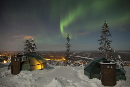 Nordlicht über den Glasiglus  © Luisu Oy