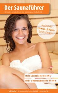 Die schönen Seiten des Lebens! - Der regionale Saunaführer mit Gutscheinen