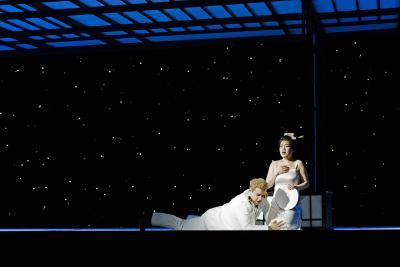 Madama Butterfly - Premiere 14. März 2015 // Pinkerton (Gaston Rivero) & Cio-Cio-San (Karah Son) / © Kirsten Nijhof