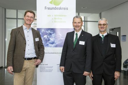 Das Organisationsteam der 45. Osnabrücker Kontaktstudientage (von links): Prof. Dr. Cord Petermann, Marc-Guido Megies und Prof. Dr. Thomas Rath. Zum Team gehört außerdem Prof. Dr. Jürgen Milchert