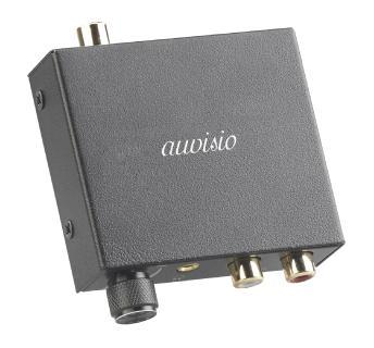 auvisio Audio-Konverter digital (TOSLINK/Koaxial) zu analog, Lautstärkeregler