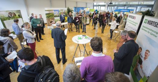 Die Unternehmensmesse Gartenbau bot Studierenden und Firmenvertretern die Möglichkeit, sich zu vernetzen