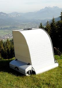 Bio Medico GmbH hat eine mobile Sauna mit Ferninfrarottechnik entwickelt