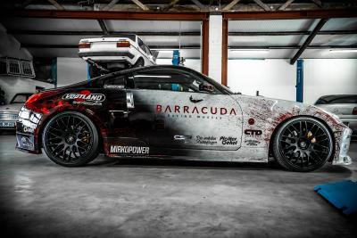 Spectacular Nissan 350Z tuning car on Barracuda Karizzma rims