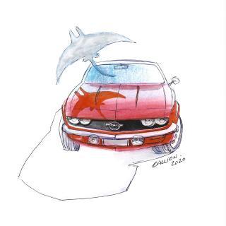 Opel Manta, George Gallion Sketch