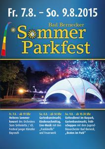 """Plakat """"Sommer Parkfest"""""""
