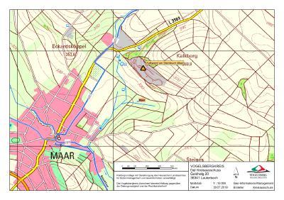 Karte Kalkwand Steinbruch Maar