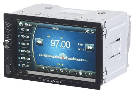 PX 2336 03 Creasono 2 DIN MP3 Autoradio mit Touchdisplay. Bluetooth und Freisprecher