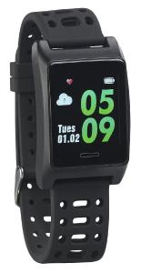 newgen medicals Fitness-GPS-Armbanduhr FBT-220.gps, Herzfrequenz-Anzeige, Farb-Display, App, IP68