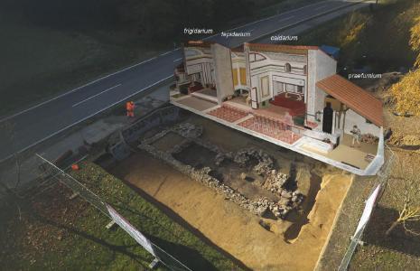 In Schlögen lädt ein außergewöhnlich gut erhaltenes römisches Bad zum Eintauchen in die antike Welt von Architektur, Technik und Lebensfreude ein / Foto: Land Oberösterreich