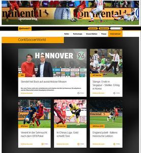 Continental setzt auf dem Weg zur UEFA EURO 2016™ auf die Fußball-Website www.ContiSoccerWorld.de