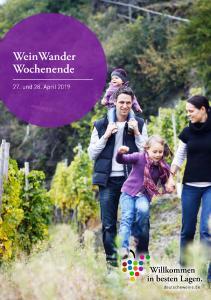 Titel WeinWander Wochenende 2019