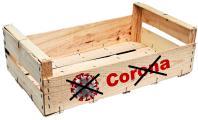 Auf und in Holzsteigen sterben Coronaviren früher ab als auf anderen Stof-fen. (Grafik: GROW)