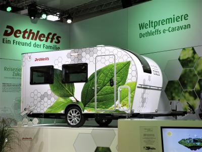 A pure-electric motorhome concept and a caravan that drives itself