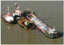 "Elbe Dredging: Two new underwater storage areas successfully completed at ""Medemrinne"" and ""Neufelder Sand"""