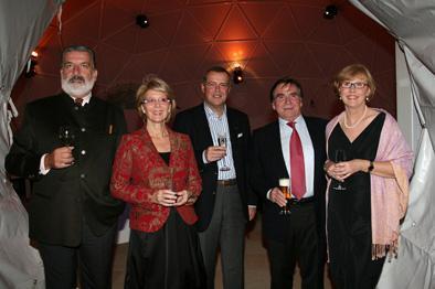 Gerhard Tötschinger, Christiane Hörbiger, Alain Visser, Elmar Wepper, Anita Wepper feiern die Opel Insignia Premiere im Schloß Fuschl