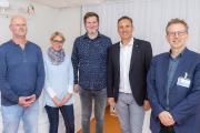 v.l.n.r.: Rüdiger Hirsch, Sylke Jäckle, Meike Bottlender, Markus Heming, Prof. Dr. Michael Berner / Foto: Markus Kümmerle