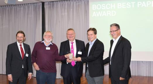 Prof. Dr. Jan Dethloff und Mitautoren erhalten Bosch-Best-Paper-Award