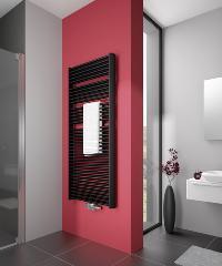 Zeitloses Design, gepaart mit hoher Wärmeleistung und einem günstigen Preis-Leistungs-Verhältnis – der neue Duolino, hier in der Ausführung in onyx / Fotos: Arbonia