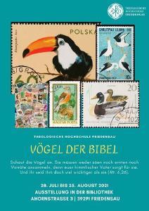 """Hochschulbibliothek zeigt philatelistische Objekte """"Vögel der Bibel"""""""