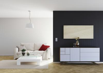 Natursteinheizungen bieten komfortable Strahlungswärme und können sowohl horizontal wie hier im Bild, als auch vertikal installiert werden