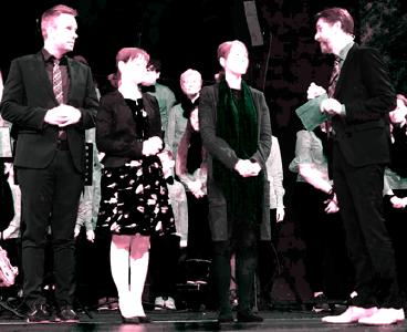 Christian Badorrek mit Frau Ljudmila, Judith Fockner und Stephan Sigg (v.l.) © Foto: Gunther Klenk