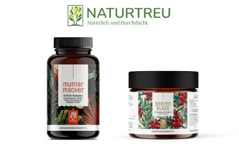 Die Produkte Muntermacher und Beerenblase von Naturtreu