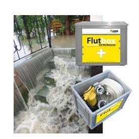 """Die Jung Pumpen """"Flutbox"""" sorgt im Falle des Falles für eine stressfreie Kellerentwässerung. Unter www.flutbox.com finden sich Informationen, Animationen und ein anschaulicher TV-Beitrag des MDR"""