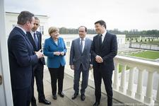 Obama, Cameron, Renzi, Hollande und Merkel - thank you for visiting Hannover!