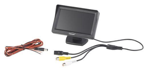 PX 4146 4 Lescars Farb Rückfahrkamera im Nummernschildhalter m  Monitor und Abstandswarner