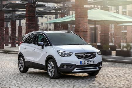 Opel-Jahresrückblick 2017: Richtungsweisend: Der im Frühjahr 2017 gestartete Crossland X ist das erste gemeinsam mit der Groupe PSA entwickelte Opel-Modell