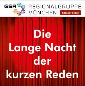 Die Lange Nacht der kurzen Reden - Speaker-Event in München