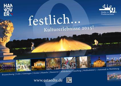 Als kultureller Leuchtturm Niedersachsens bilden die festlich illuminierten Herrenhäuser Gärten das Hauptmotiv der 9-Städte-Plakatierung zum GTM in Erfurt und Weimar