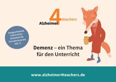 Auf der Internetseite www.alzheimer4teachers.de der Deutschen Alzheimer Gesellschaft finden Lehrer*innen und andere Pädagog*innen ausgearbeitetes Material für den Unterricht in verschiedenen Altersstufen.