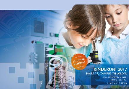 Vorankündigung: 13. Kinderuniversität an der Technischen Hochschule Wildau startet am 30. September 2017