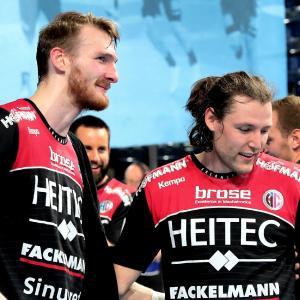 (Jocki_Foto, Erlangen): Antonio Metzner und Johannes Sellin – insgesamt 11 Treffer gegen Balingen